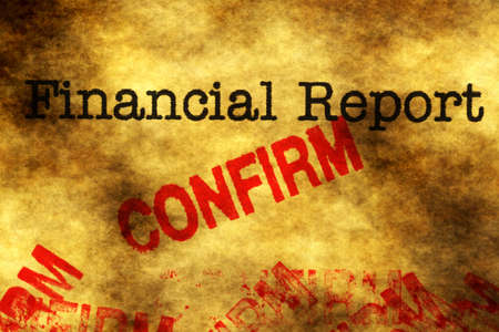 Financial report - confirm