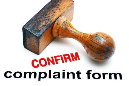 Complaint form confirm
