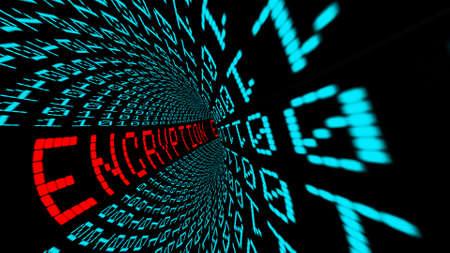 Photo pour Encryption in matrix tunnel - image libre de droit