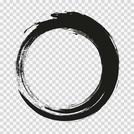 Illustration pour vector brush strokes circles of paint on transparent background. - image libre de droit