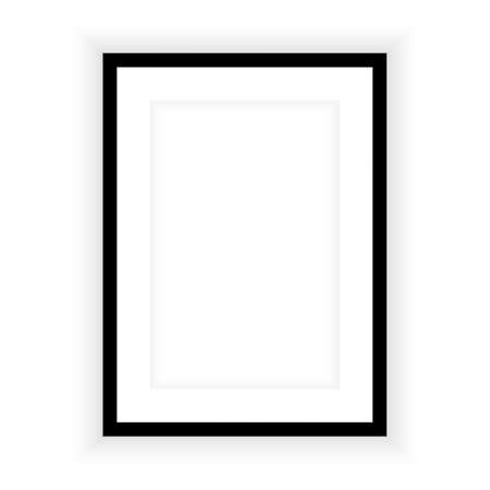 Illustration pour Realistic picture frame isolated on white background. Perfect for your presentations. Vector illustration - image libre de droit