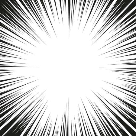 Ilustración de Comic radial speed lines background - Imagen libre de derechos