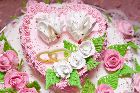 Wedding pie with wedding rings