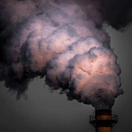 The industrial smoke, pollutes the atmosphere
