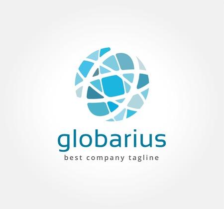 Foto de Abstract network vector logo icon concept. Logotype template for branding and corporate design - Imagen libre de derechos