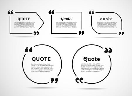 Illustration pour Quote text bubble. Commas, note, message and comment. - image libre de droit