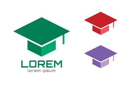 Graduation cap logo icon template