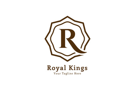 Royal logo vector template. Hotel logo. Kings symbol. Royal crests monogram. Kings Top hotel. Letter R logo. Royal hotel, Premium R brand boutique, Fashion R logo, Lawyer logo. Vintage modern style