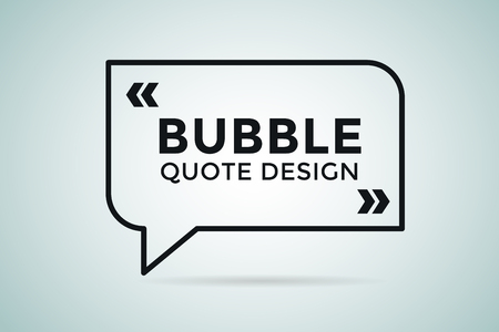 Illustration for Quote blank template. Quote bubble. Empty template. Quote design, quoting box, text sign reference, paper information template. Quote form. Bubble template vector set. White quote blank icon isolated - Royalty Free Image