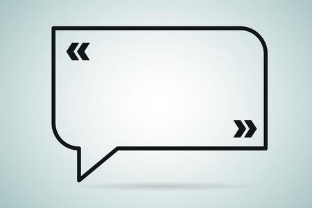 Illustration pour Quote bubble vector blank template. Quote bubble icon. Empty bubble template. Quote design, quoting box, text bubble sign, paper information quote template. Quote form. Bubble template set. White quote blank icon isolated - image libre de droit