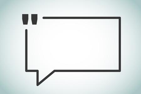 Ilustración de Quote bubble vector blank template. Quote bubble icon. Empty bubble template. Quote design, quoting box, text bubble sign, paper information quote template. Quote form. Bubble template set. White quote blank icon isolated - Imagen libre de derechos