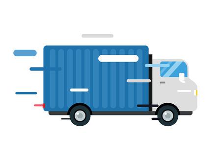 Illustration pour Delivery vector truck.  - image libre de droit