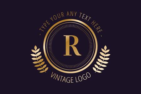 Royal logo vector template.
