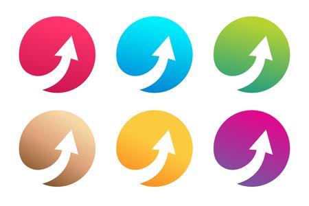 Vector arrow icon. Arrow abstract icon template. Up arrow, cursor arrow icon, arrowheads. Arrow marker and dynamic arrow symbol. Arrow isolated. Arrow vector icon. Arrow company icon