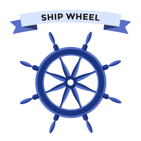Vector rudder flat icons set. Rudder wheel illustration. Boat wheel control rudder vector icons set. Rudders, ships, se, wheel, round, control, yacht, cruise. Rudder icon. Wheel icons. Rudder and wheel isolated