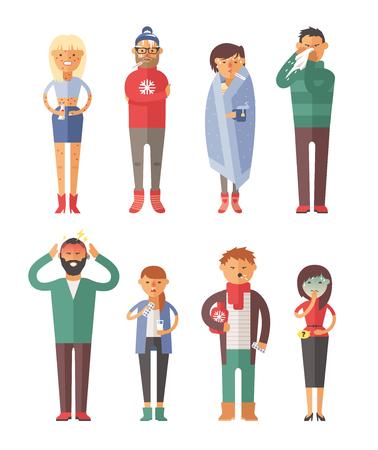 Illustration pour People ill vector illustration. S - image libre de droit