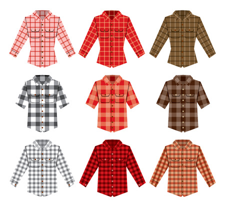 Lumberjack check shirt lumberjack old fashion vector patterns. Red, black, white check old fashion lumberjack shirt. Trendy hipster lumberjack shirt vector. Fashion  lumberjack cloth texture.  Lumberjack pattern