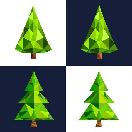 Christmas tree flat 3d lowpoly pixel art icon.の素材 [FY31049147962]