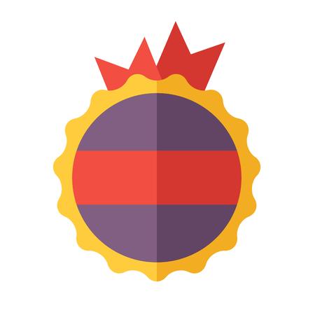 Modern flat design badge icon  Vector badges flat modern