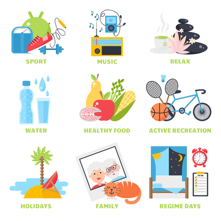 Foto per Healthy lifestyle concept, diet and fitness healthy lifestyle vector illustration. Healthy lifestyle fitness sport and healthy lifestyle diet fresh nutrition. Healthy lifestyle sport, fresh eating. - Immagine Royalty Free