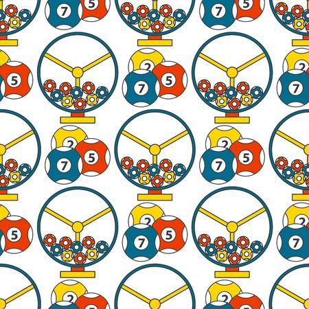 Casino game poker gambler symbols seamless pattern background.