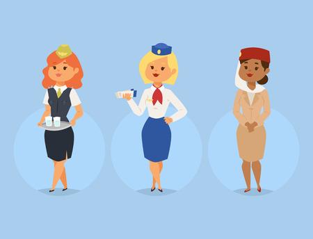 Ilustración de Stewardess vector illustration - Imagen libre de derechos