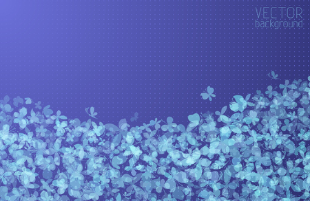 Set of various butterflies silhouettes on blue background. There is place for your text at the top of the illustration.