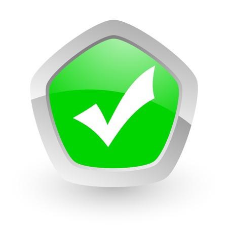 green pantagon icon