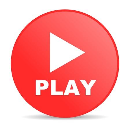 play red circle web glossy icon