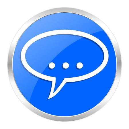 blue web icon isolated