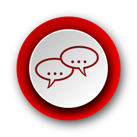 forum red modern web icon on white background