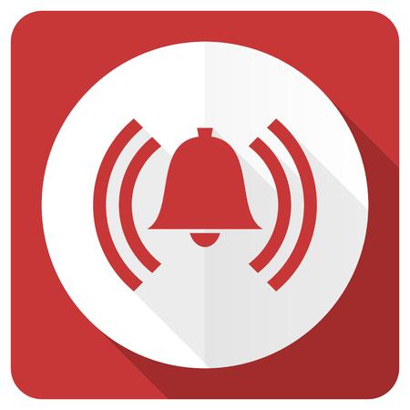 alarm red flat icon alert sign bell symbol