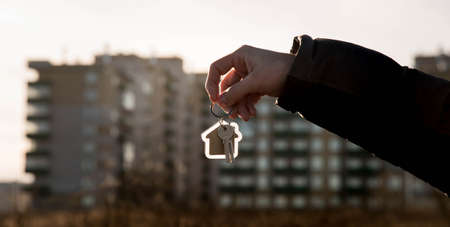 to buy or build an apartment or house, keys in hand