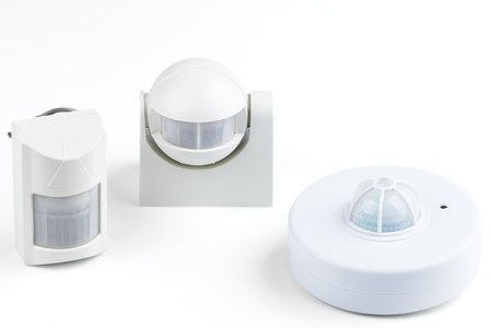 infrared motion sensor isolated on white background