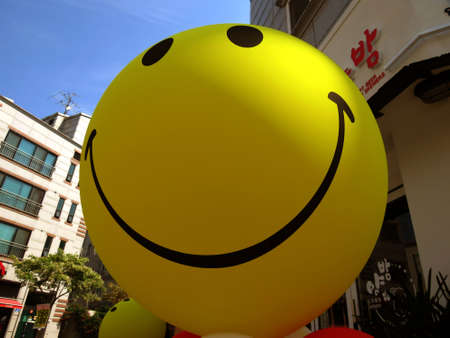 it seems like this ball smiles to you personally, and you want to smile back