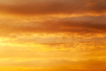 Photo for Fiery orange sunset sky Dramatic golden sky at the sunrise background - Royalty Free Image