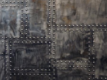 Photo pour grunge metal with rivets background - image libre de droit