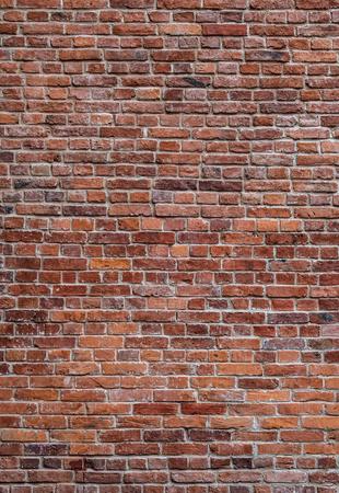 Photo pour old red brick wall vertical texture background - image libre de droit