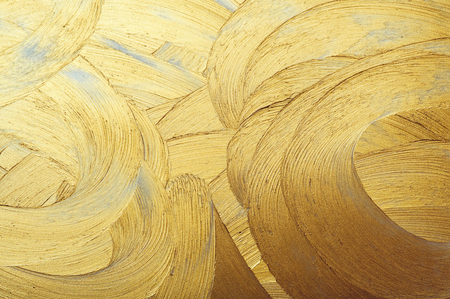 Foto per hand drawing paint gold brush stroke - Immagine Royalty Free