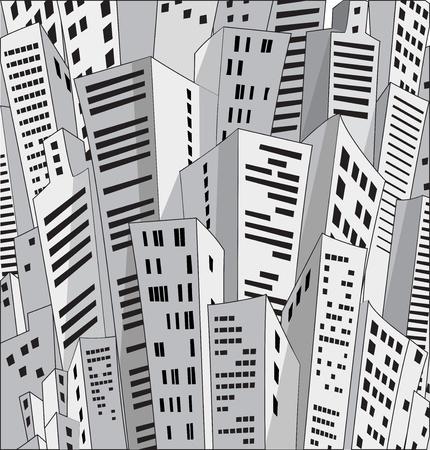 Vektor für Background of many urban homes - Lizenzfreies Bild