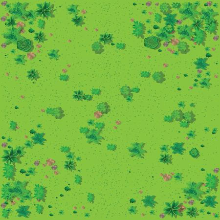 Illustration pour Top view of the countryside - image libre de droit