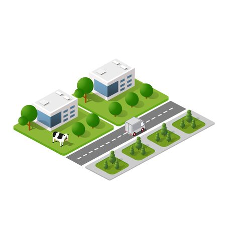 Illustration for Isometric 3D module block - Royalty Free Image