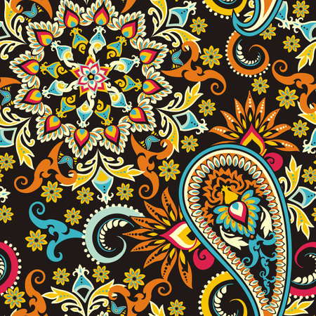 Multicolored Paisley