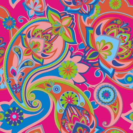 Henna Paisley - Magenta