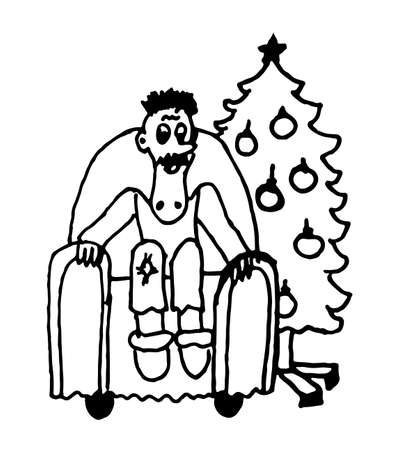 The Best Christmas Tree Cartoon Outline