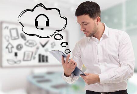 Photo pour Business, technology, internet and network concept. - image libre de droit