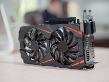 Photo for Video card in the office on the table - Royalty Free Image