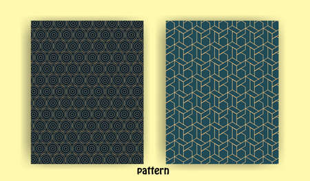 Illustration for set of minimal geometric line patterns for banner background wall wallpaper banner background - Royalty Free Image