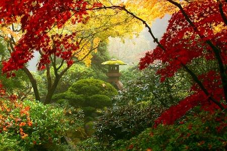 Garden Statue in Portland s Japanese Gardens