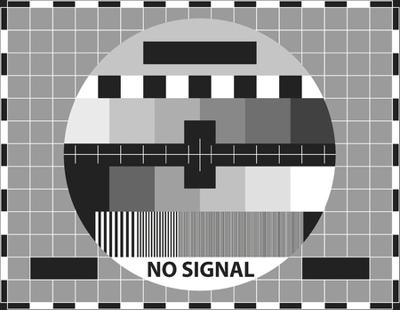 Television test pattern. Used to prove the quality of reception.